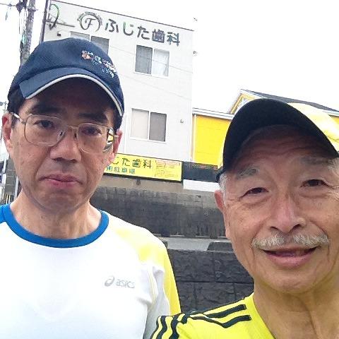 2014.03.19  鹿児島の中村さんと長崎日大コース20km練習 001