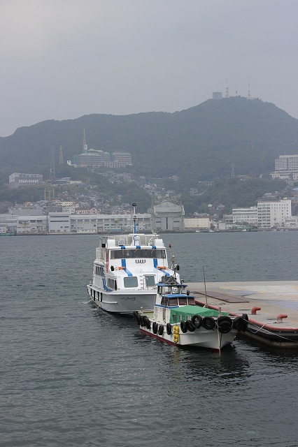 2013.11.17 軍艦島常磐桟橋と長崎港